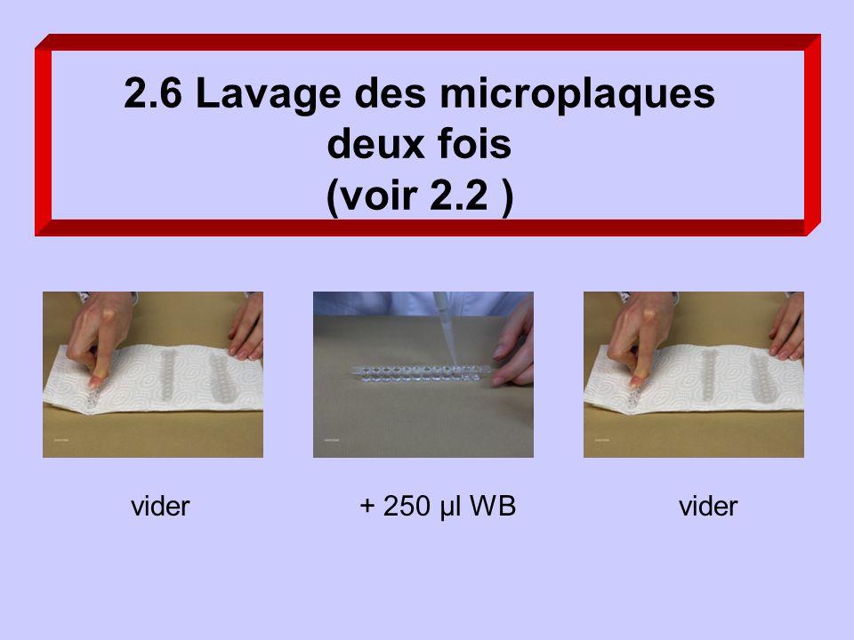 2.6 Lavage des microplaques