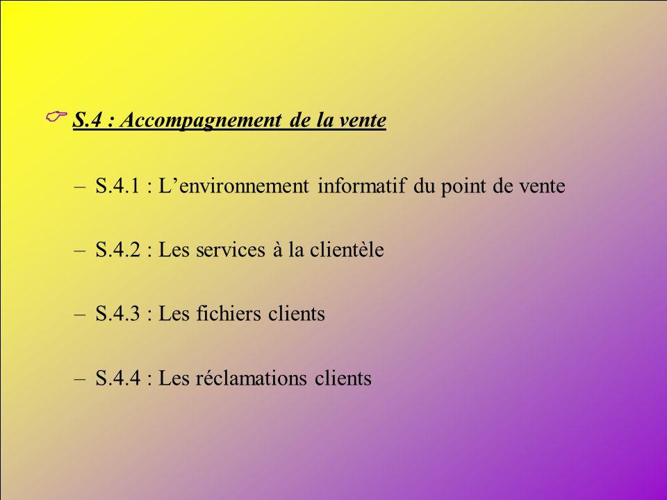 C S.4 : Accompagnement de la vente