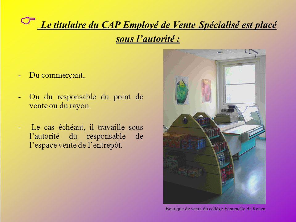 Boutique de vente du collège Fontenelle de Rouen