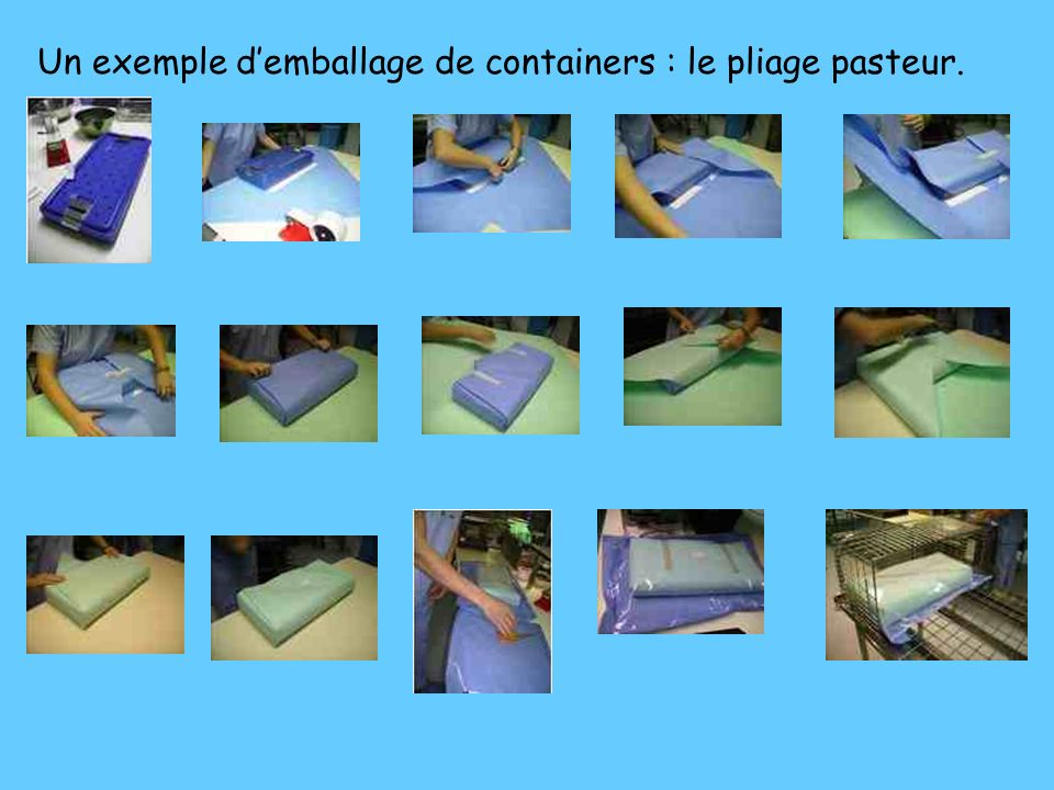 Un exemple d'emballage de containers : le pliage pasteur.