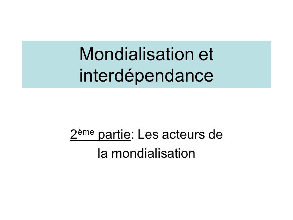 Mondialisation et interdépendance