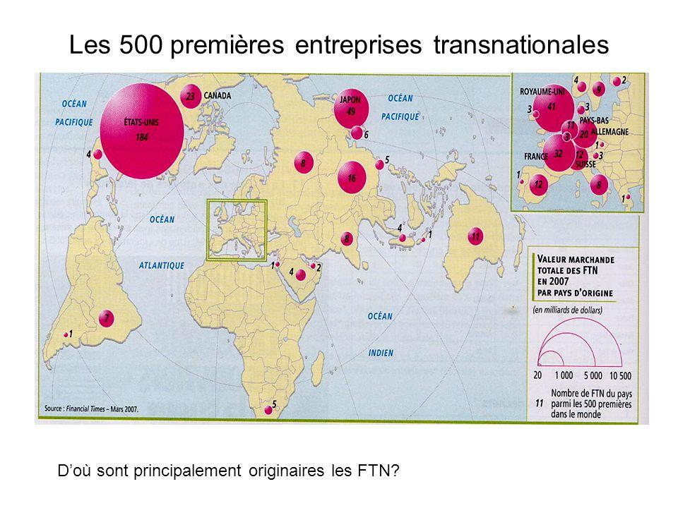 Les 500 premières entreprises transnationales