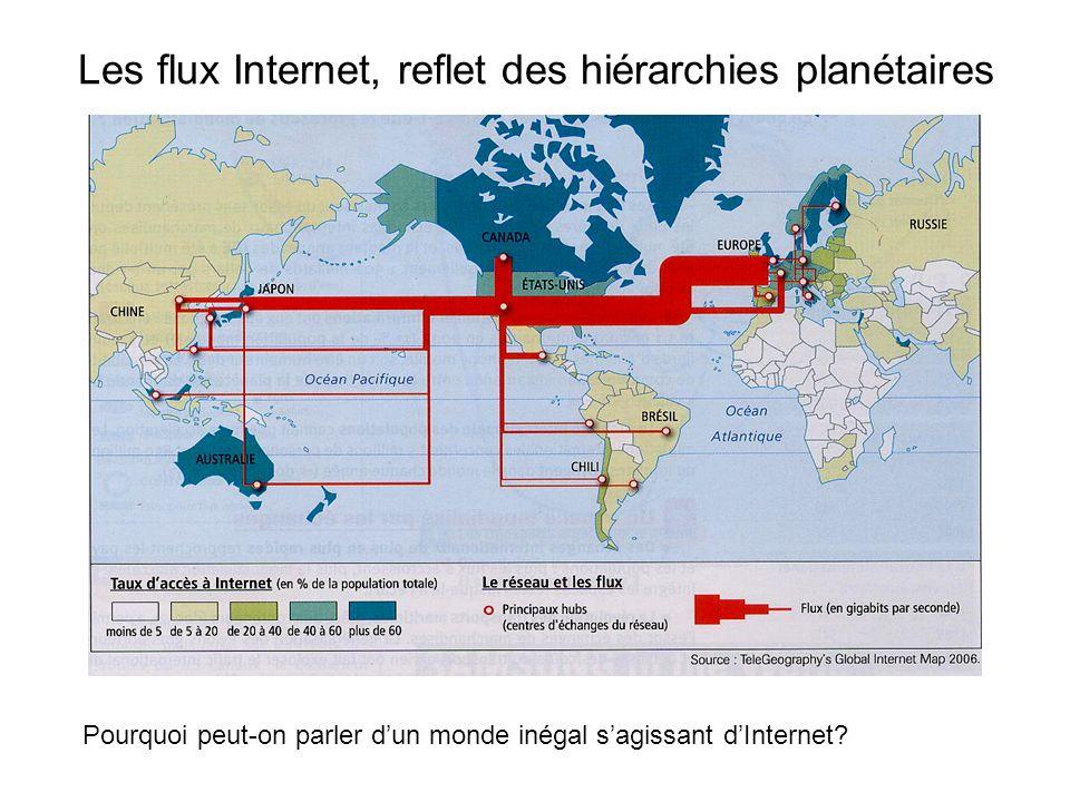 Les flux Internet, reflet des hiérarchies planétaires