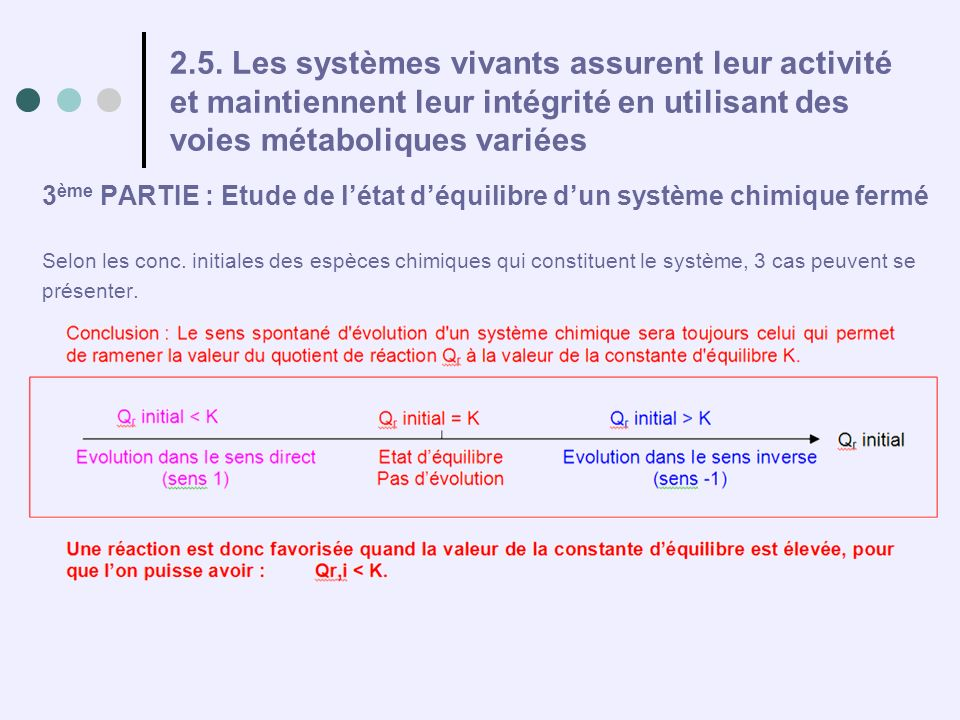 2.5. Les systèmes vivants assurent leur activité et maintiennent leur intégrité en utilisant des voies métaboliques variées