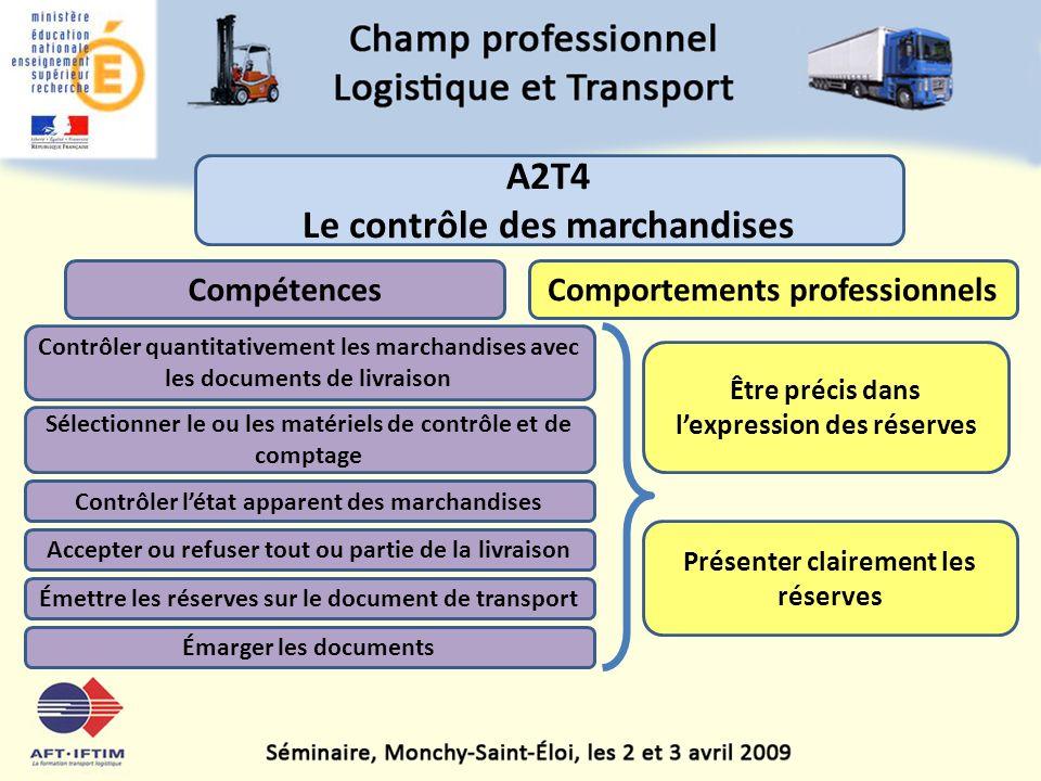 A2T4 Le contrôle des marchandises