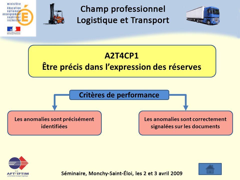 A2T4CP1 Être précis dans l'expression des réserves