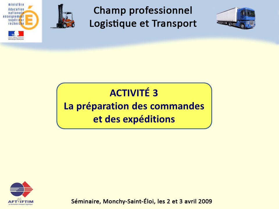 La préparation des commandes et des expéditions