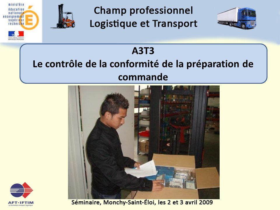 Le contrôle de la conformité de la préparation de commande