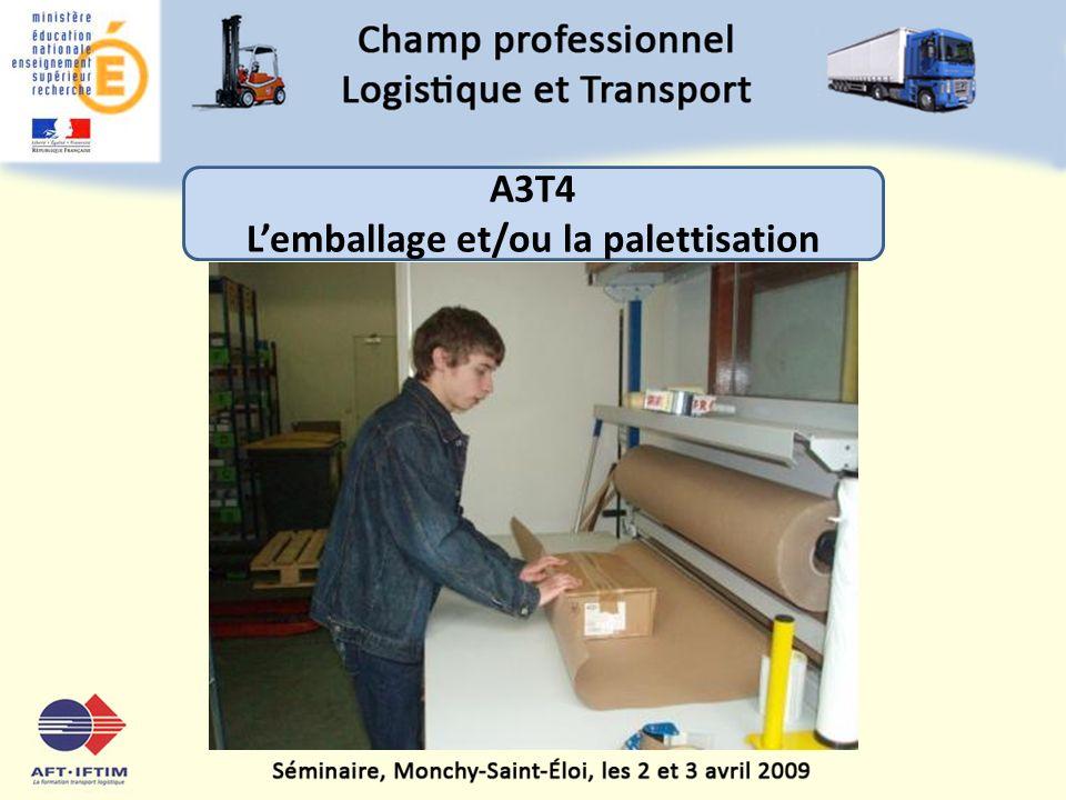 L'emballage et/ou la palettisation