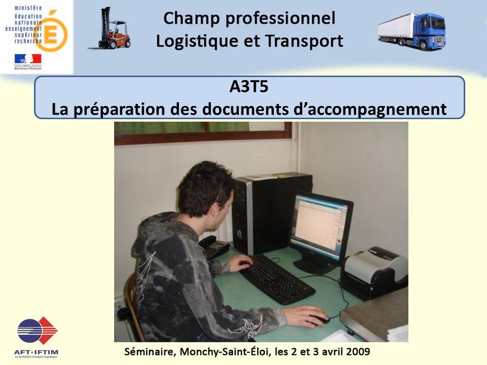La préparation des documents d'accompagnement