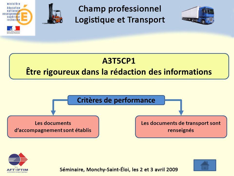 A3T5CP1 Être rigoureux dans la rédaction des informations