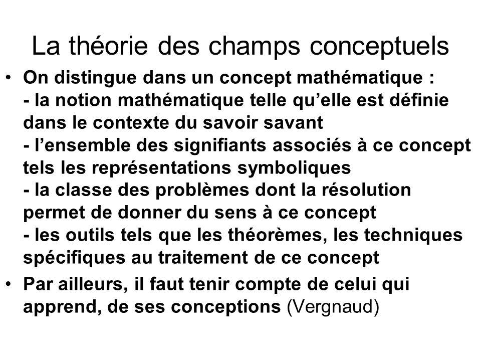 La théorie des champs conceptuels