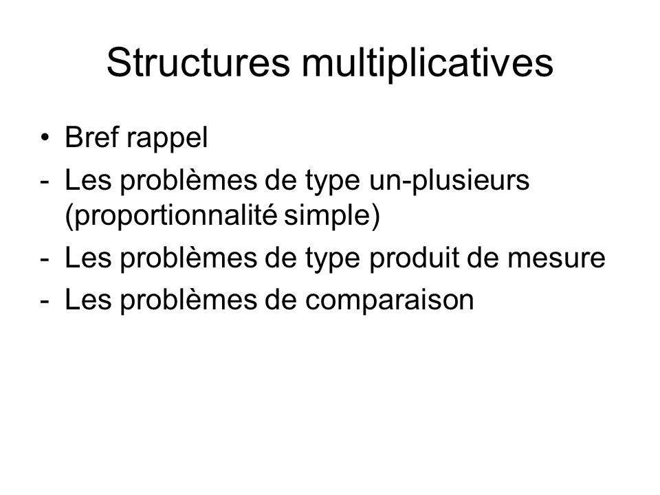 Structures multiplicatives