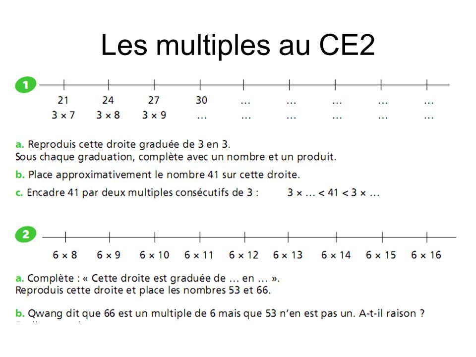 Les multiples au CE2