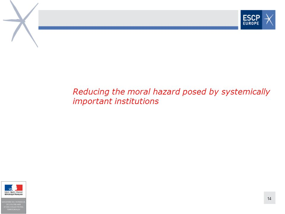 Reducing the moral hazard posed by systemically important institutions