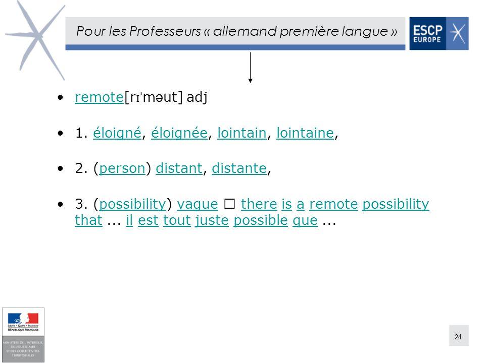 Pour les Professeurs « allemand première langue »