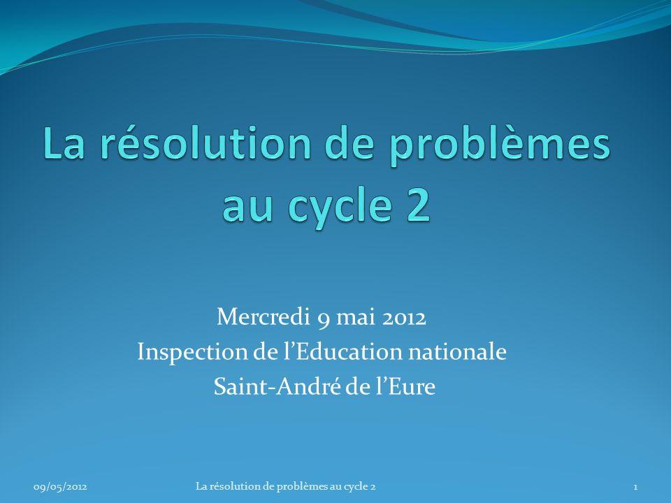 La résolution de problèmes au cycle 2