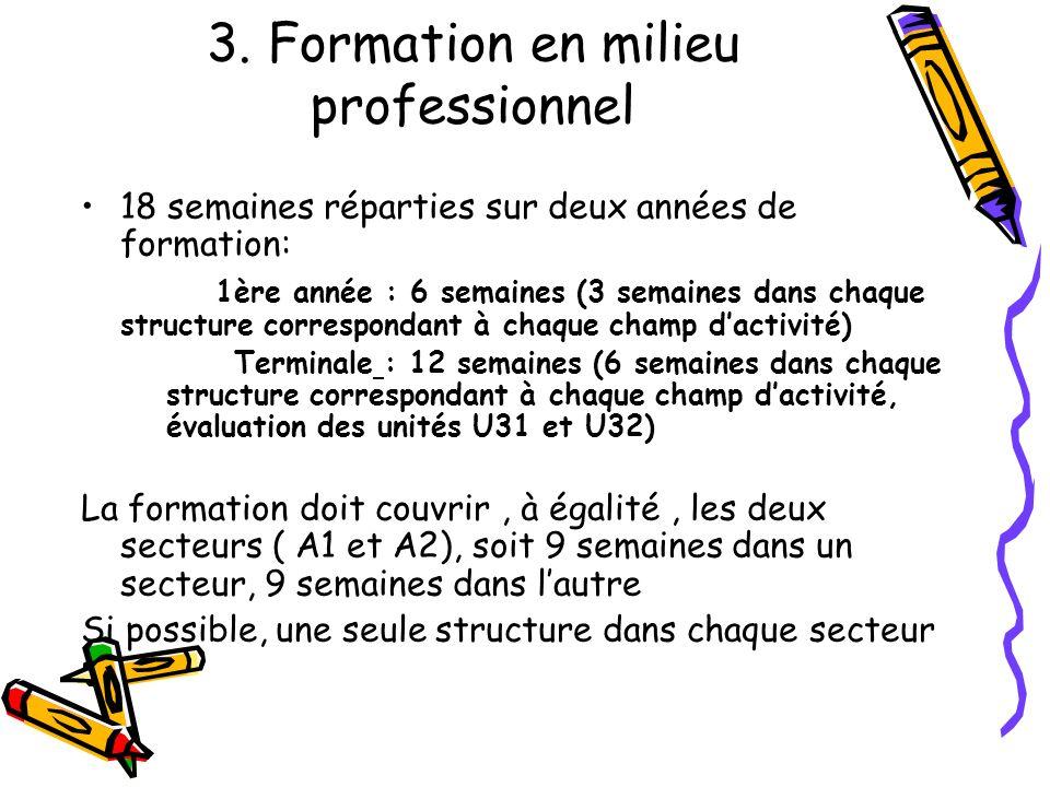 3. Formation en milieu professionnel