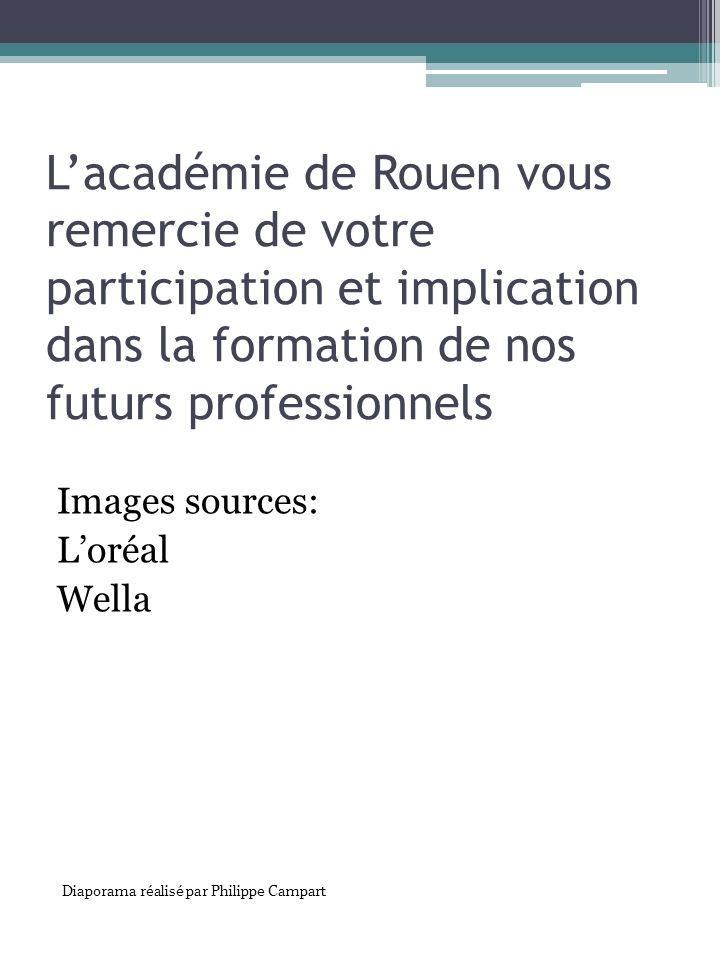 L'académie de Rouen vous remercie de votre participation et implication dans la formation de nos futurs professionnels