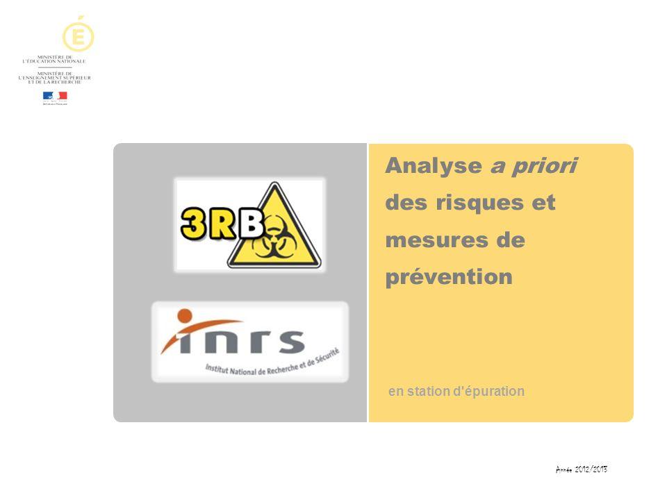Analyse a priori des risques et mesures de prévention