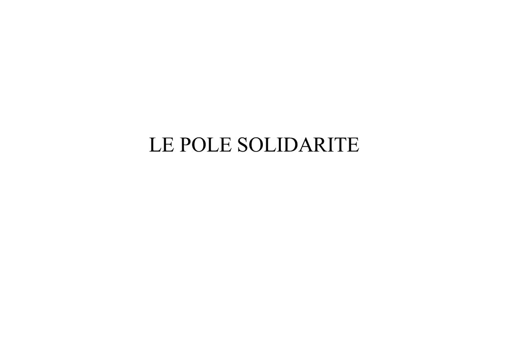 LE POLE SOLIDARITE
