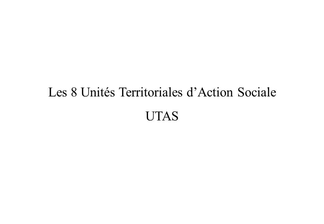 Les 8 Unités Territoriales d'Action Sociale