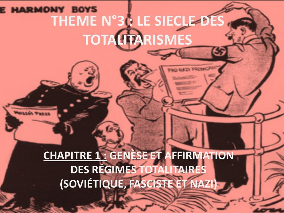 THEME N°3 : LE SIECLE DES TOTALITARISMES