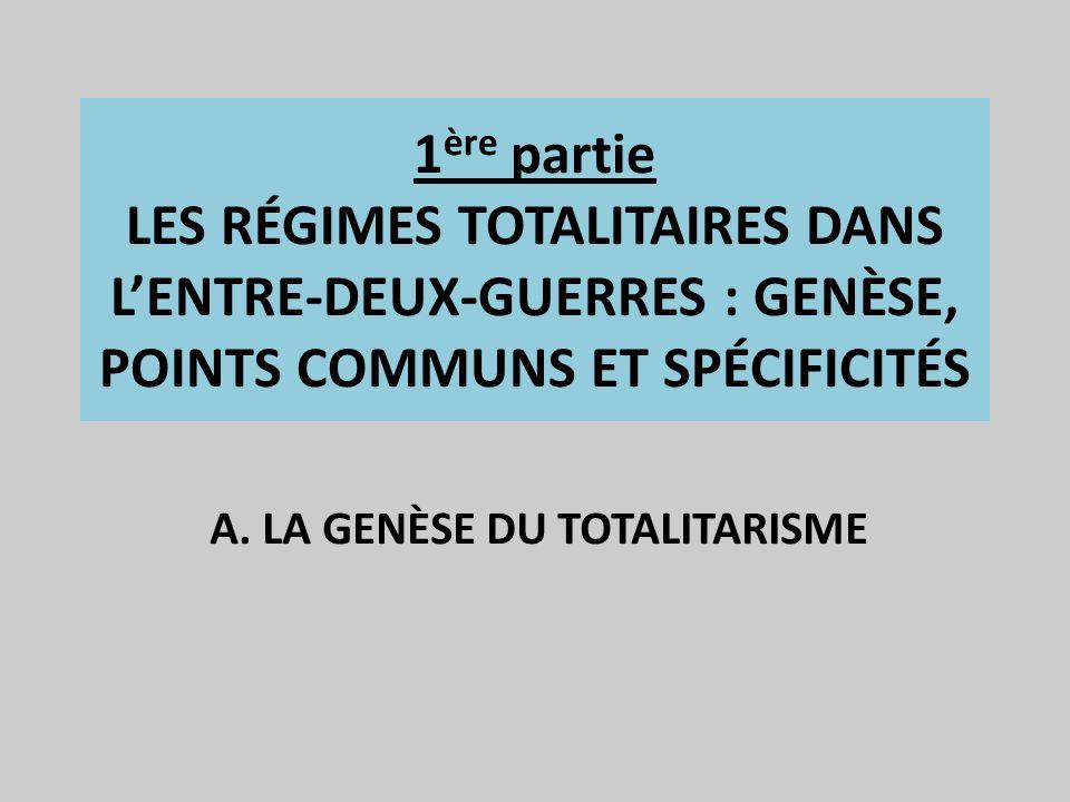 A. LA GENÈSE DU TOTALITARISME