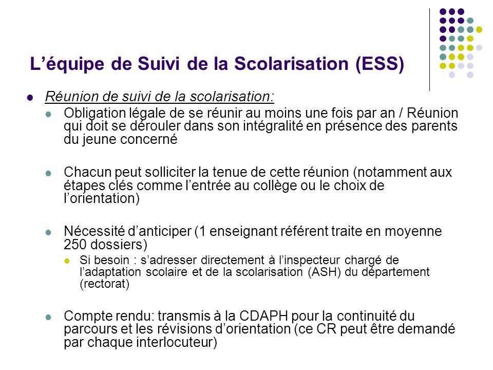 L'équipe de Suivi de la Scolarisation (ESS)