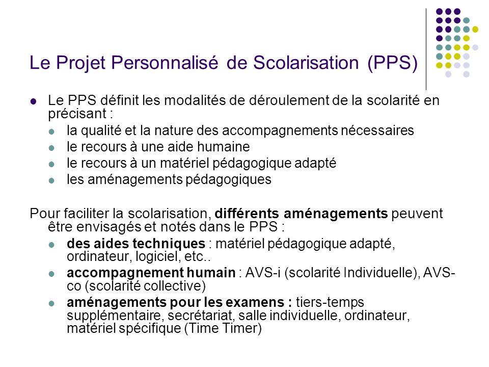 Le Projet Personnalisé de Scolarisation (PPS)