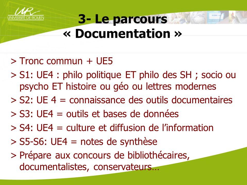 3- Le parcours « Documentation »