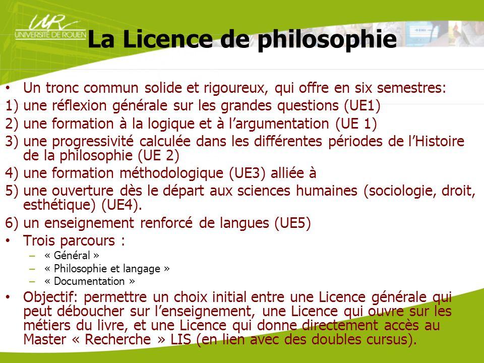La Licence de philosophie