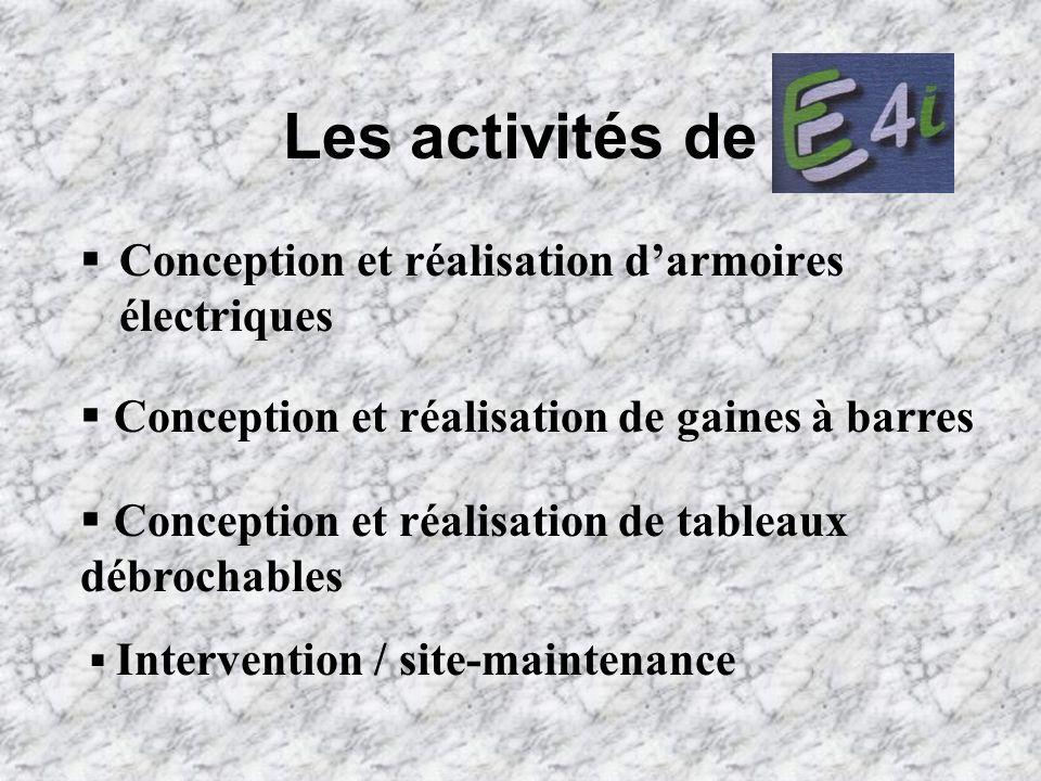Les activités de Conception et réalisation d'armoires électriques