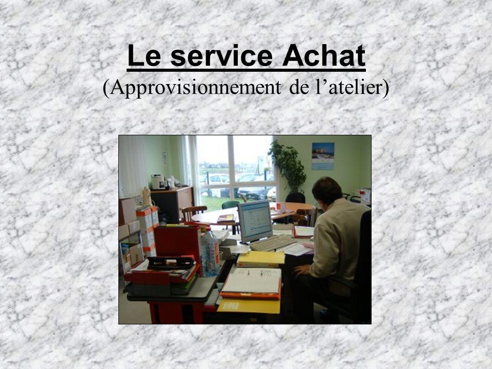 Le service Achat (Approvisionnement de l'atelier)