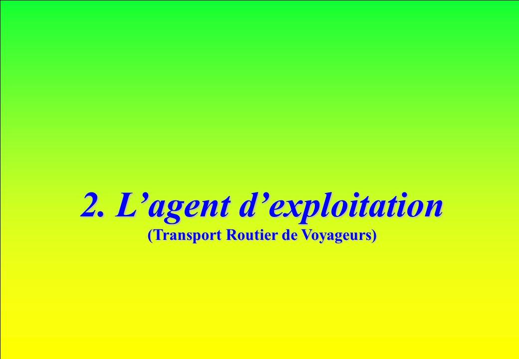 2. L'agent d'exploitation (Transport Routier de Voyageurs)