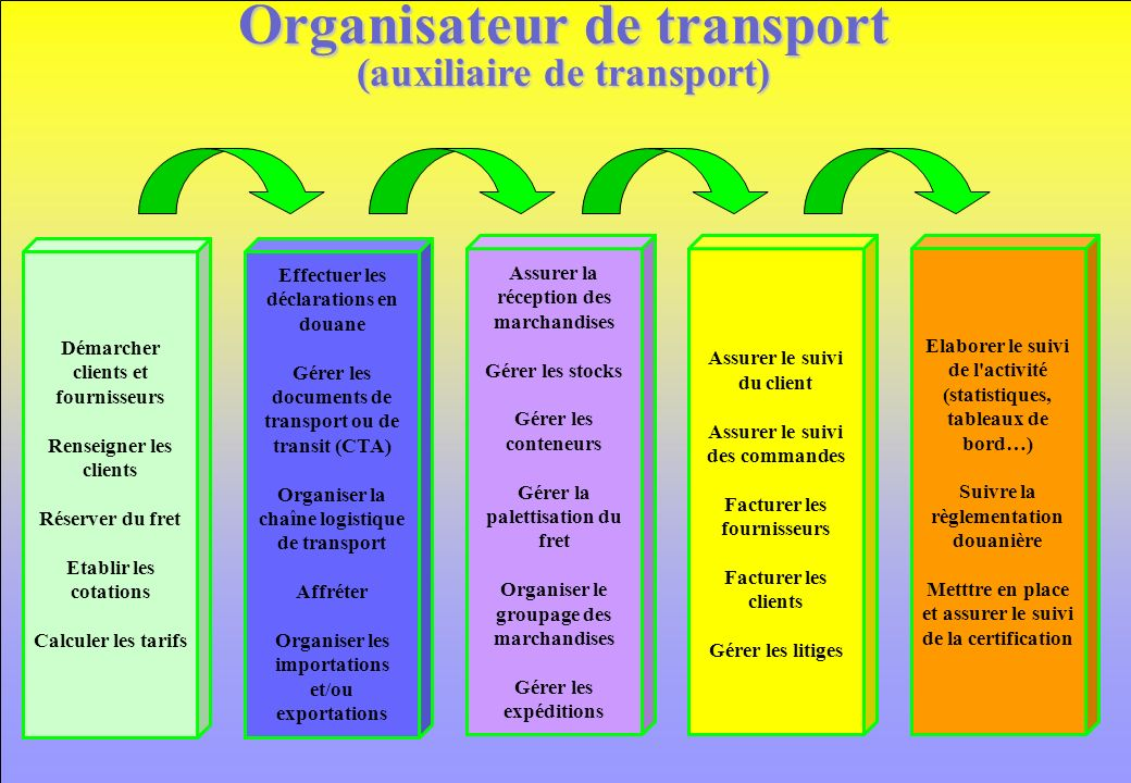 Organisateur de transport (auxiliaire de transport)