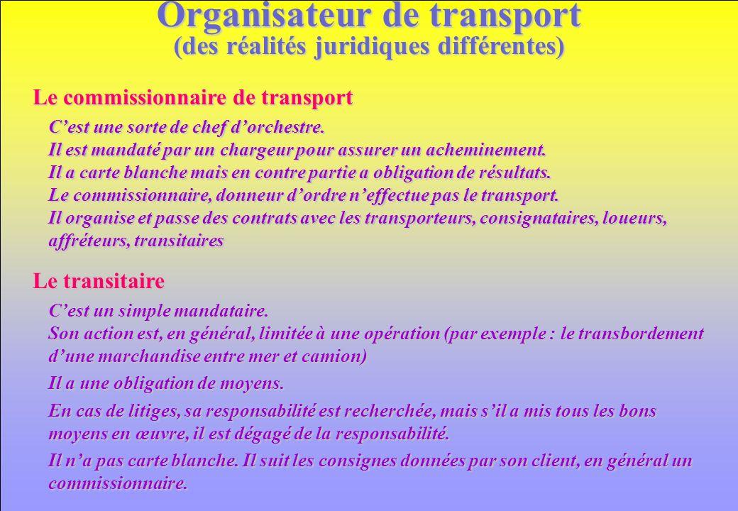 Organisateur de transport (des réalités juridiques différentes)