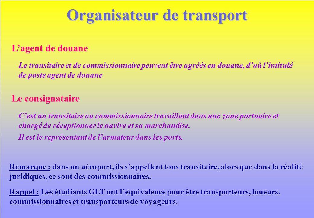 Organisateur de transport