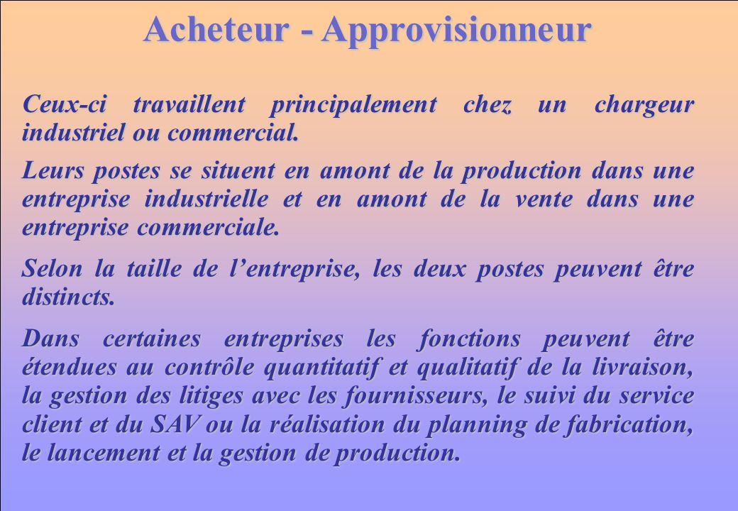 Acheteur - Approvisionneur