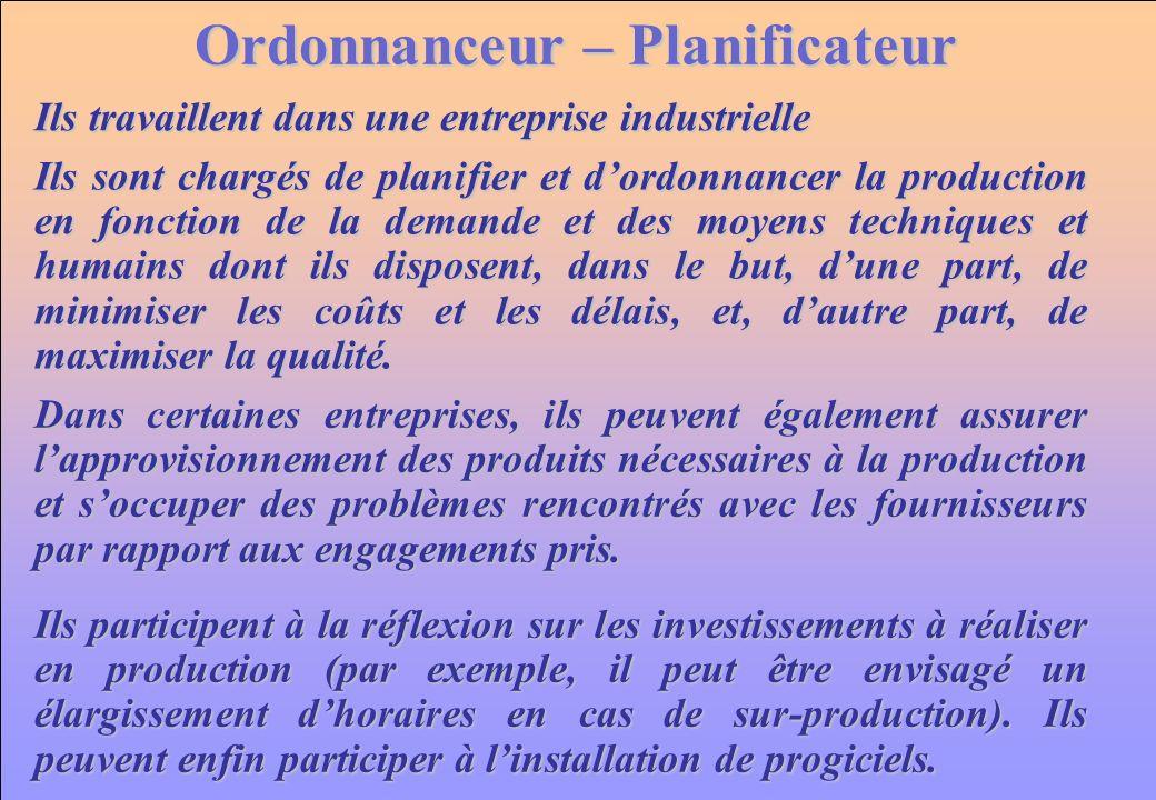 Ordonnanceur – Planificateur