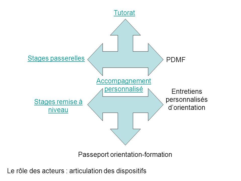 Le rôle des acteurs : articulation des dispositifs