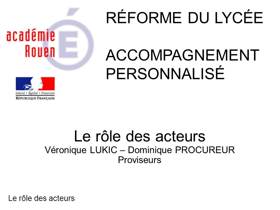 Véronique LUKIC – Dominique PROCUREUR