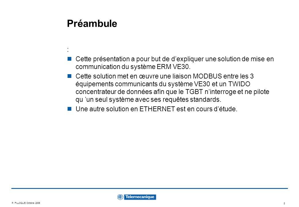 Préambule : Cette présentation a pour but de d'expliquer une solution de mise en communication du système ERM VE30.