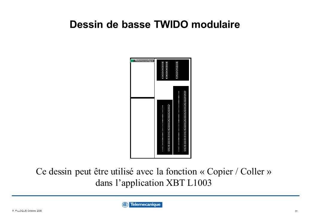 Dessin de basse TWIDO modulaire