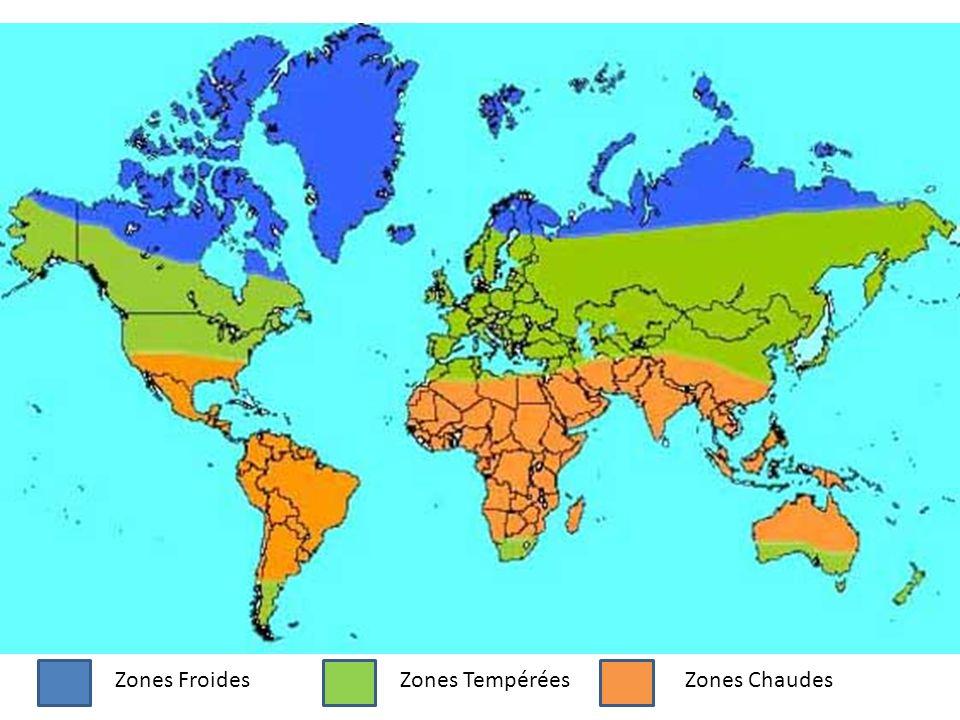 Zones Froides Zones Tempérées Zones Chaudes