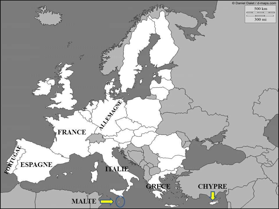 ESPAGNE ITALIE GRECE CHYPRE MALTE