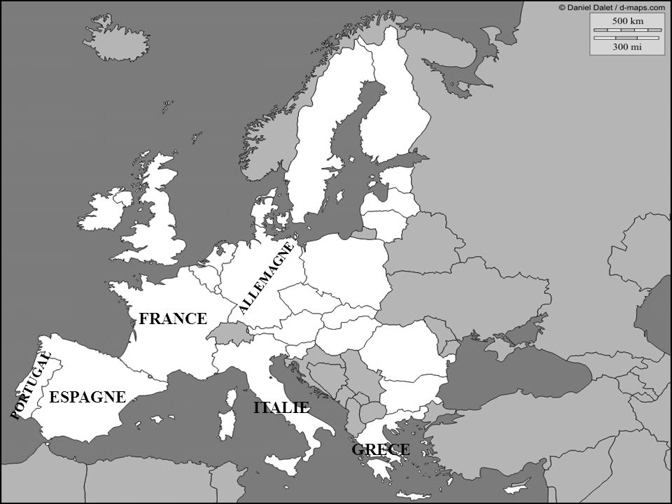 ESPAGNE FRANCE ALLEMAGNE ITALIE PORTUGAL ESPAGNE GRECE