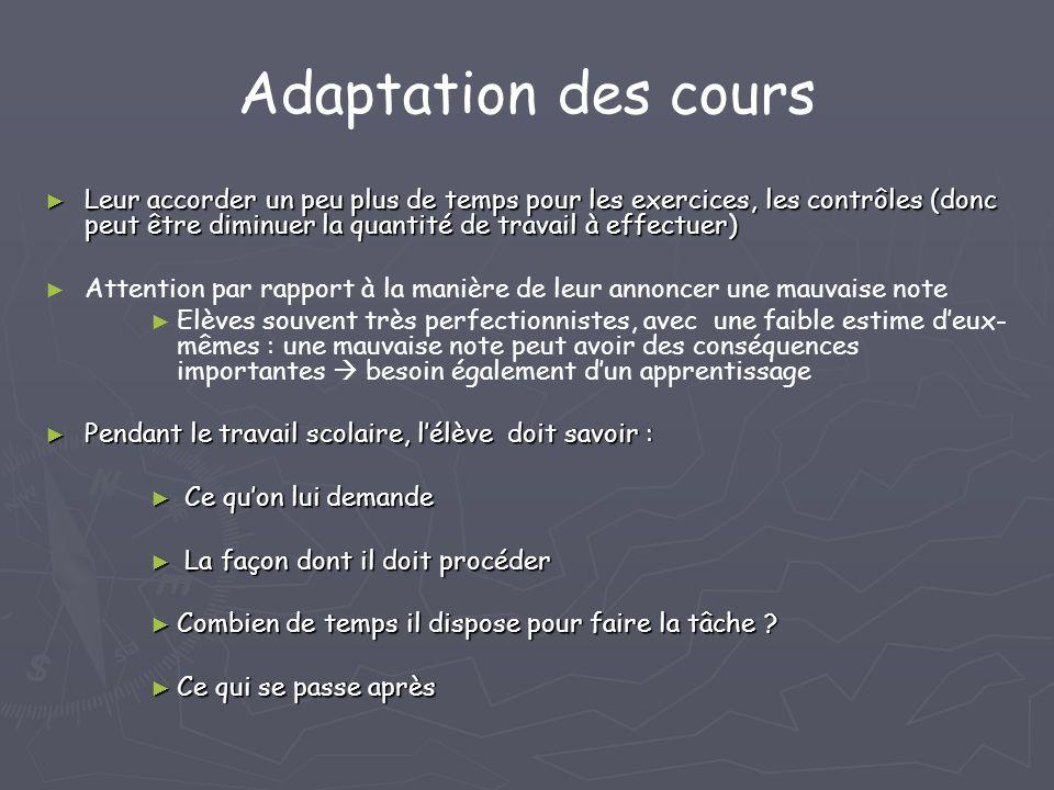 Adaptation des cours