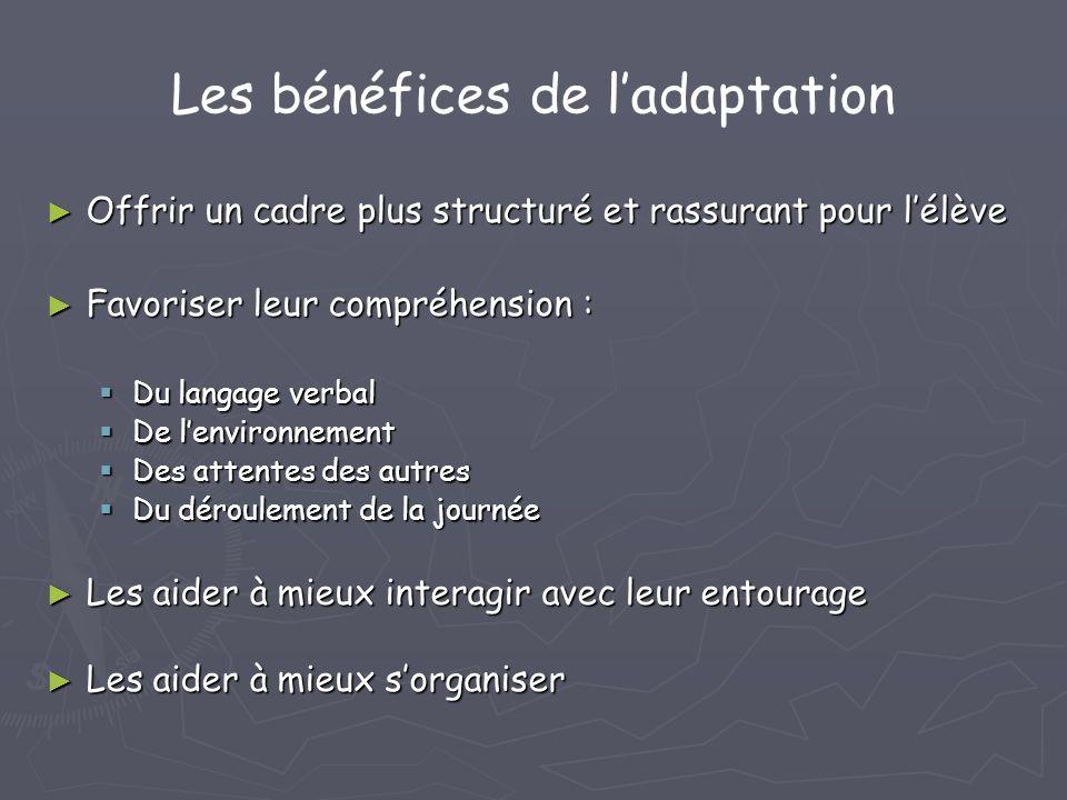 Les bénéfices de l'adaptation