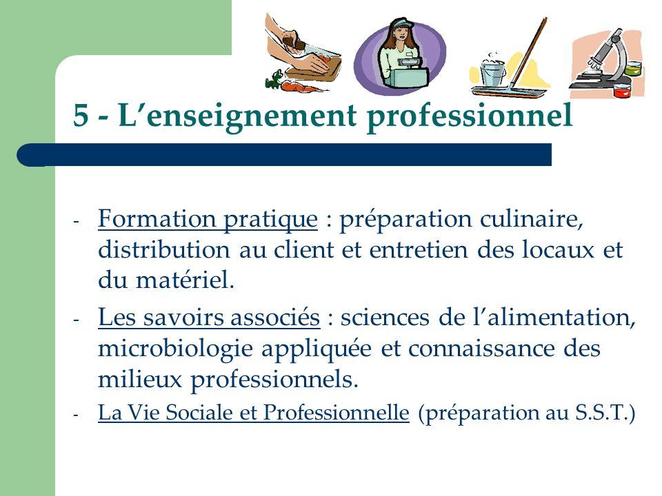 5 - L'enseignement professionnel